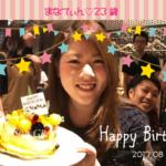 会社の皆様に、誕生日を祝っていただきました!!