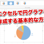 EXCEL(エクセル)で円グラフを作成する基本的な方法